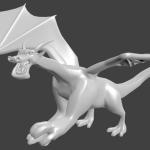 Il mio dragon. Un po' deforme ma è sempre il mio draghetto.