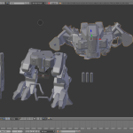 Screen shoot del modello importato in Blender ;)