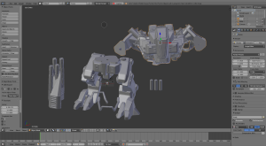 Screen shoot del modello importato in Blender ;)