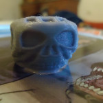 Johnny Depp Skull Ring tribute. Modelled in Blender.