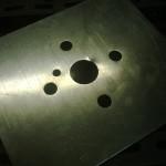 La nuova lastra in metallo  (lamiera da 3mm) per il collegamento della struttura agli angolari che mi sono fatto fare. Grazie a Lorenzo e alla s.c.m. :D