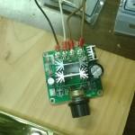 Regolatore PWM collegato (al motore ed al PSU)