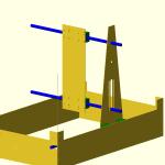 Nuova versione della fresa a cui sto pensando. Sempre pensata per funzionare come 3d printer FDM e come fresa. Struttura pensata per il 2mm o 3mm in lamieta. Ci sono anche molte cose da risolvere, per esempio come attenuare lo sforzo sull'asse verticale e allo stesso tempo permettere una buona altezza di stampa?