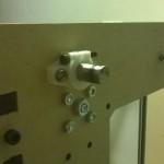 Prima versione dei bar clamp progettato e stampati da me per fissare le barre di scorrimento