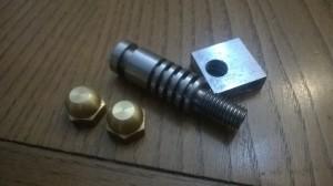 Componenti del mNozzle. I due ugelli sono da 0.2mm e 0.1mm