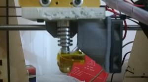 Sistema di raffreddamento che utilizzavo inizialmente sul mio primo hotend, un j-head compatibile