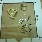 Materiale necessario per montare i pezzi in plastica dell'asse Z
