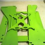Il frame pitturato di verde