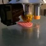Al via la prima stampa! Slic3r. 0.3mm LH, 0.5mm nozzle. PLA 210°. Seam position aligned