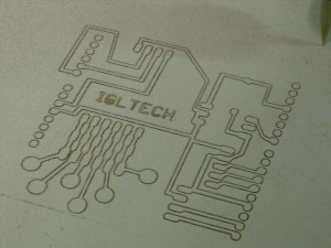 PCB test for an arduino shield. Made by CNC