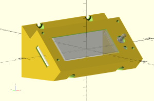 Enclosure for the LCD.  Design in openscad